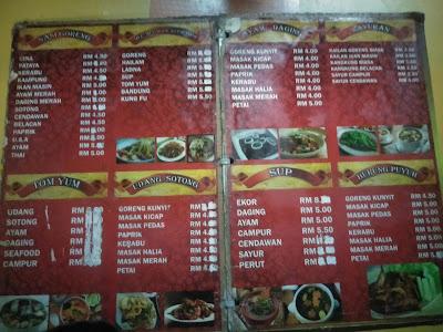 Menu harga Arinasona Seafood