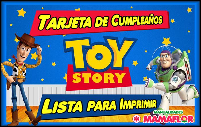 Invitaciones de Toy Story para imprimir