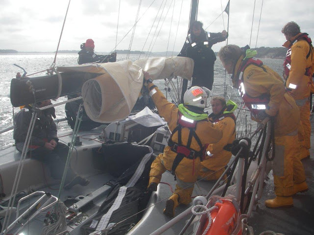 Poole crew finding out information about the incident. Photo: RNLI Poole/Dave Riley
