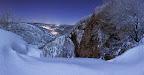 Septmoncel sous la neige - Panoramique 5 images