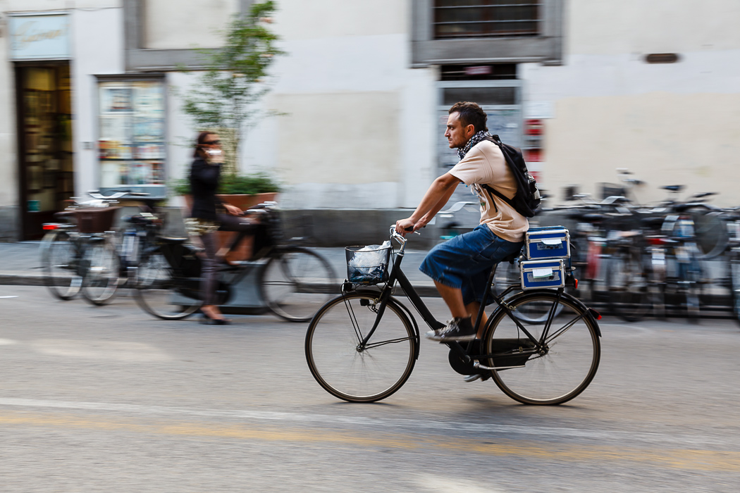 Флоренция - Очень много велосипедистов