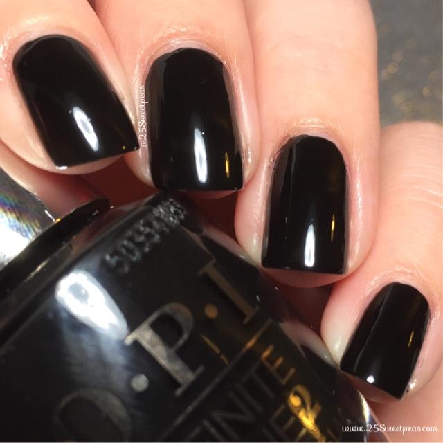 OPI Infinite Shine : Black Onyx - 25 Sweetpeas