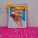 Celebration in honor of Gandhi's Birthday