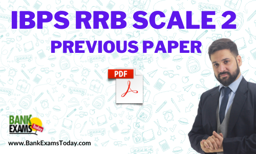 IBPS RRB GBO Scale 2 Previous Paper 2020 PDF