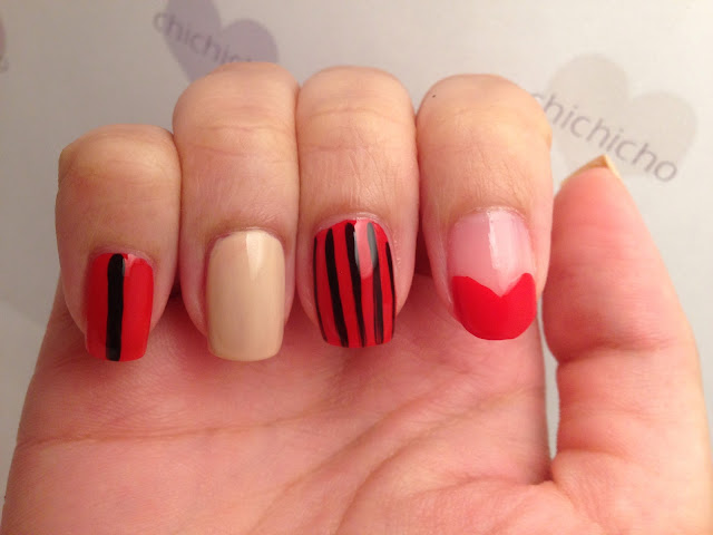 Simple Chic Red Nail Art