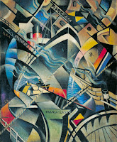 The Arrival c.1913 Christopher Richard Wynne Nevinson 1889-1946 Presented by the artist's widow 1956 http://www.tate.org.uk/art/work/T00110