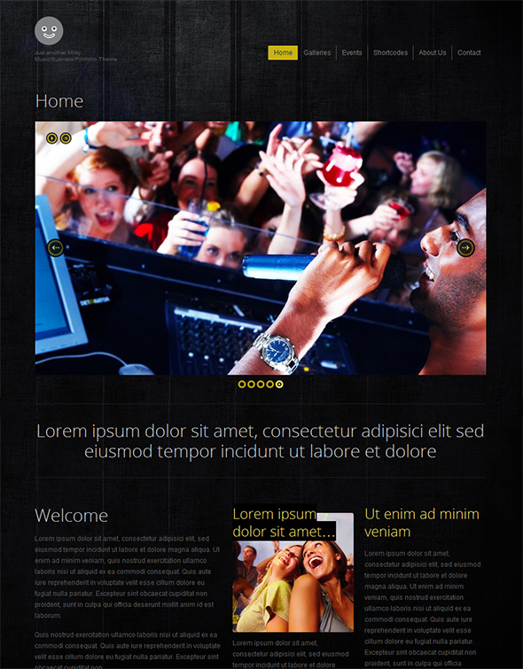 Milky Music WordPress Theme for Bands