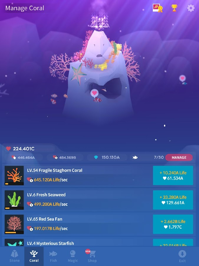 Abyssrium make your aquarium android apps on google play for Tap tap fish cheats