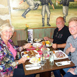 dinner with family at the Greek restaurant: Kreta in Velsen, Noord Holland, Netherlands