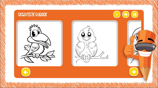 free coloring book bird paint screenshot thumbnail - Free Coloring Book Apps