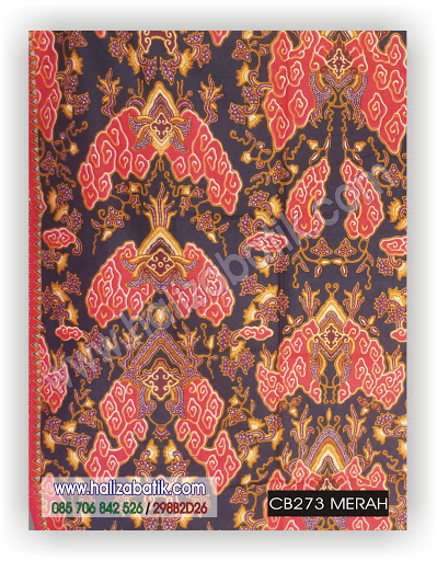 Baju Batik Modern, Gambar Baju Batik, Grosir Pakaian Murah, CB273 MERAH