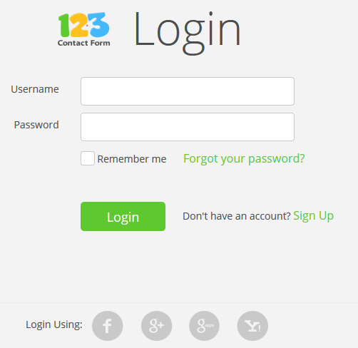 123ContactForm what is subaccount password