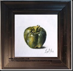 framed Lemon Leaf 6x6