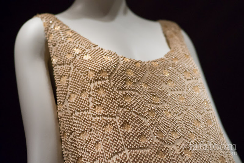 Detail shot of Edward Molyneux, Evening dress, 1925.