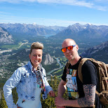my Dutch friends on top of sulphur mountain in Calgary, Alberta, Canada