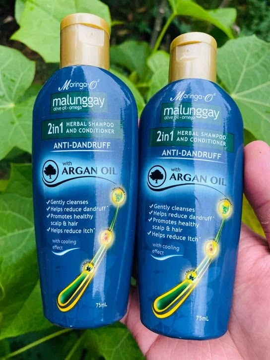Moringa-O2 2-in-1 Herbal Anti-Dandruff Shampoo and Conditioner