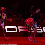 STUTTGART, GERMANY - APRIL 22 : Angelique Kerber, Carla Suarez Navarro in action at the 2016 Porsche Tennis Grand Prix