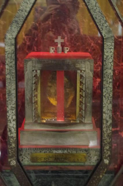 A close up of Saint André Bessette's heart!
