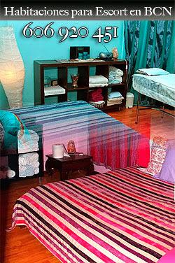 habitación para trabajar de masajista