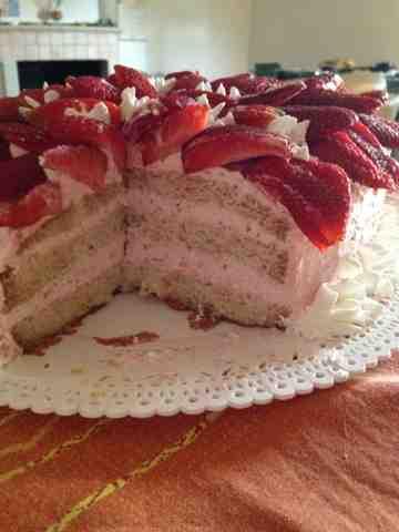 torta alle fragole super fragolosa!!!
