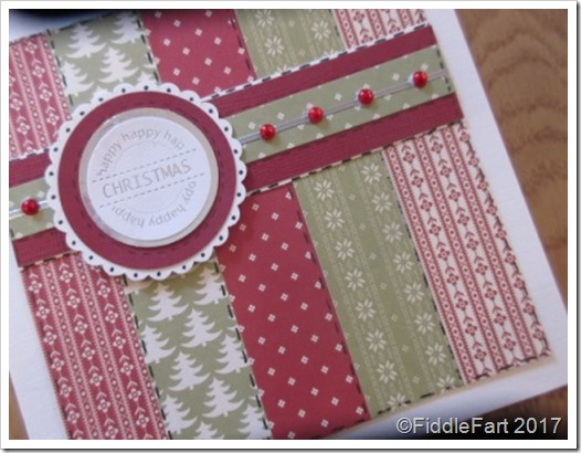Patchwork Christmas Card..