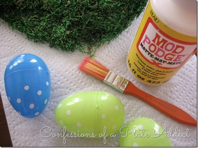 CONFESSIONS OF A PLATE ADDICT Moss-Covered Easter Eggs supplies
