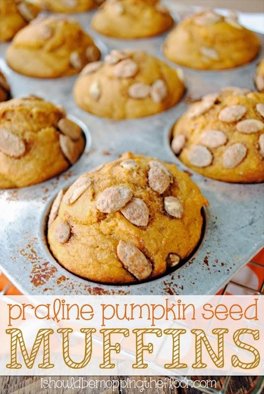 praline pumpkin seed muffins