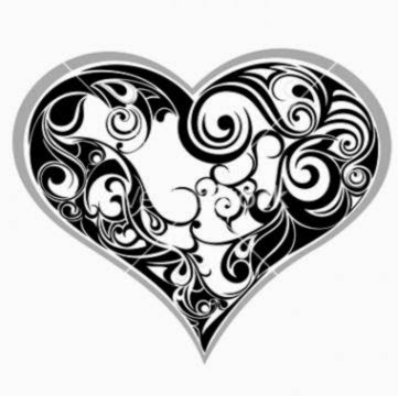 Tattoo heart vector art   Download Abstract vectors   131617