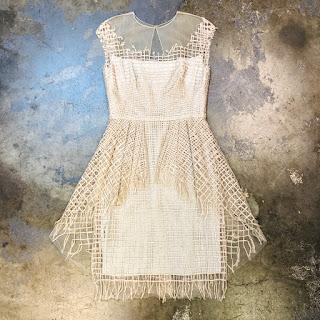 Lela Rose Metallic Tulle Peplum Dress
