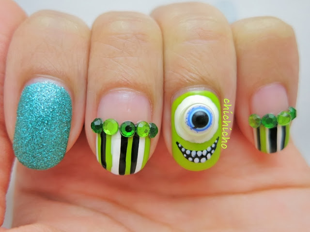 Mike Wazaowski Nail Art - Born Pretty Store Review