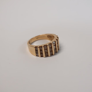 14K Gold and CZ Ring
