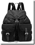 Prada leather Trimmed nylon backpack