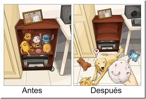 antes y despues de tener   perro (6)