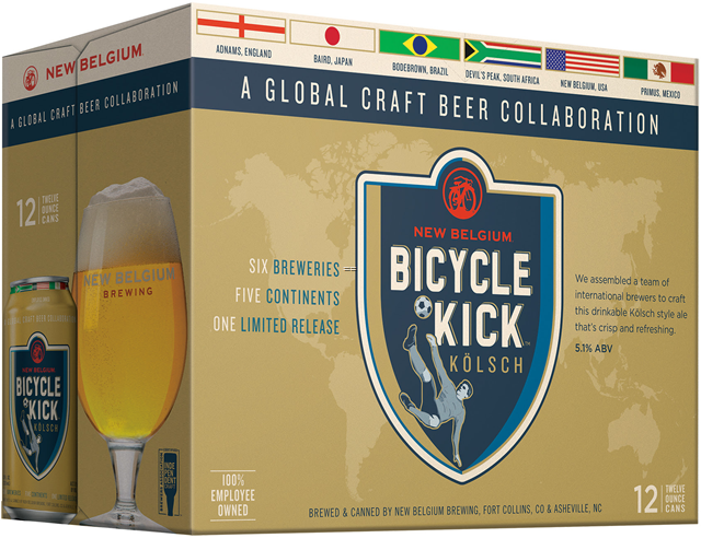 New Belgium Brewing Announces Bicycle Kick Kolsch, a Collaboration of Global Proportions