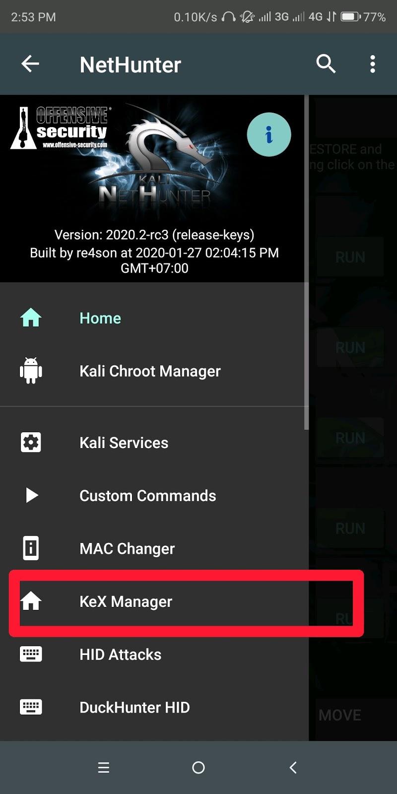 Cara Menggunakan KexManager/VNC Viewer Kalinethunter Android