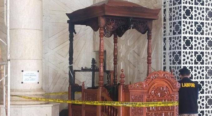 Geger Mimbar Masjid Raya Makassar Dibakar, Pelaku Berhasil Kabur dengan Cara Lompat Pagar