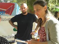 Badin Gabriella és Kováč Márton, a Rozsnyói Bányászati Múzeum munkatársai Beke Beátával.jpg
