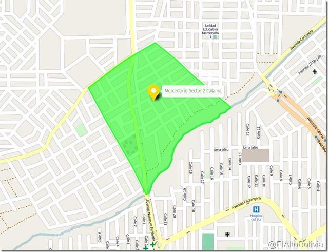 Mercedario Sector 2 Calama: zona del Distrito 4 de El Alto