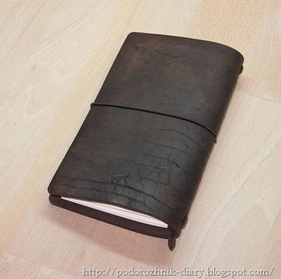 Блокнот из винтажной кожи