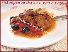Filet mignon de porc au chorizo et poivron rouge