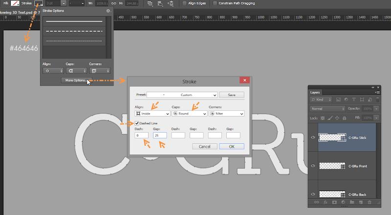 Photoshop - เทคนิคการสร้างตัวอักษร 3D Glowing แบบเนียนๆ ด้วย Photoshop 3dglow07