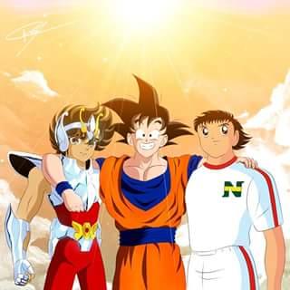 Anime Anos 90 Captain Tsubasa Dragon Ball Saint Seiya