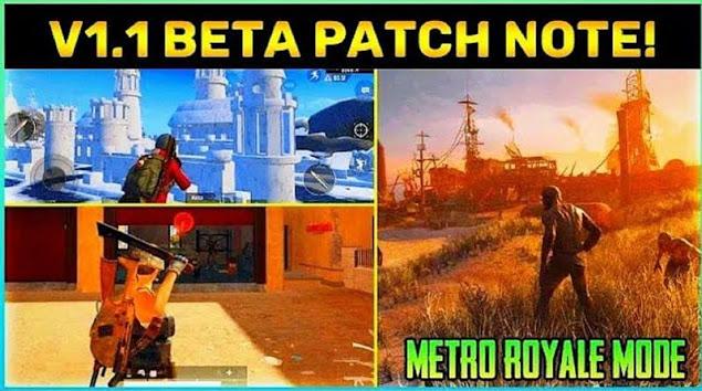 PUBG Mobile 1.1 beta yama notları: Yeni Metro Royale modu, klasik mod temalı oyun ve daha fazlası