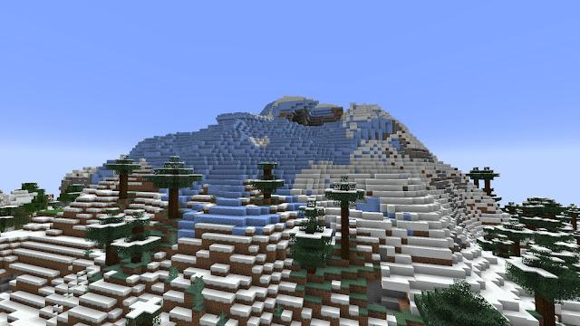 Picos cobertos de neve