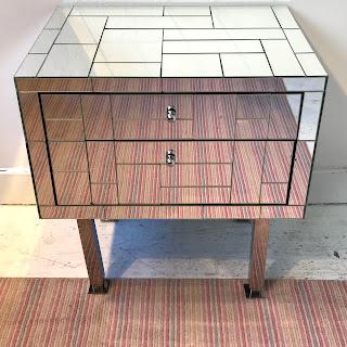 Mondrian Mirrored End Table #2
