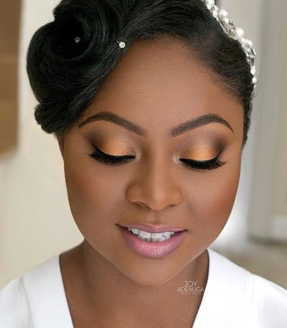 LATEST AFRICAN WEDDING MAKEUP STYLES  IN 2018 7
