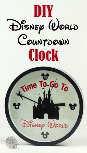DIY Disneyworld Countdown Clock
