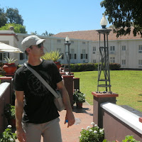 David taking in Vic Falls Hotel