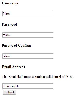 validasi form codeigniter