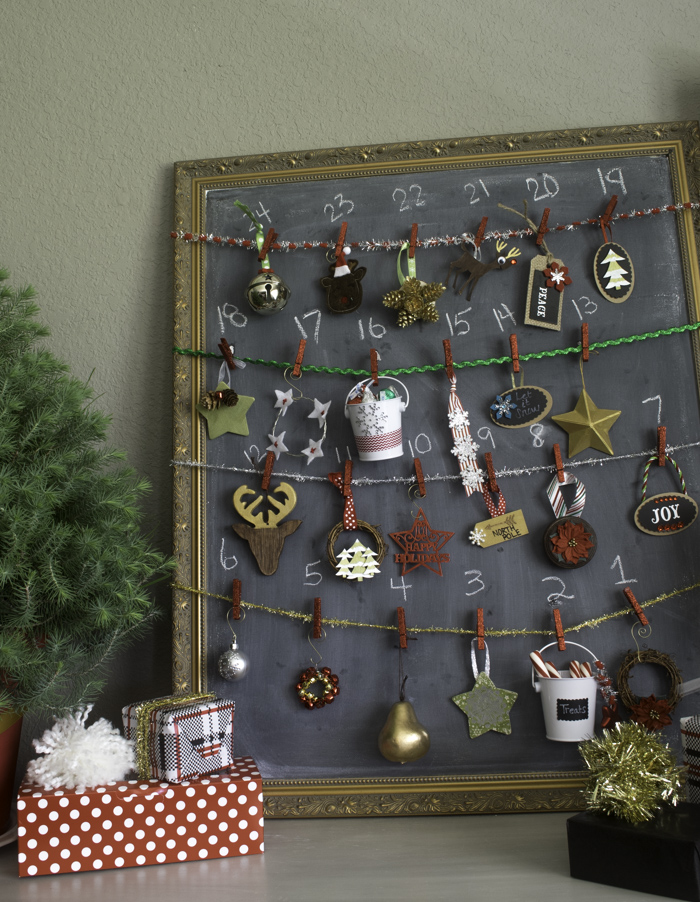 Chalkboard Ornament Advent Calendar  9 of 14